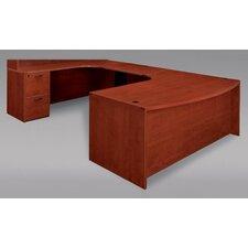 Fairplex Executive Desk with Grommet Holes
