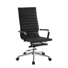 Pantera Metal and Synthetic High-Back Leather Executive Chair