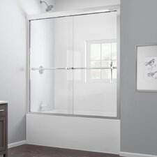 "Duet 58"" x 59"" Sliding Frameless Tub Door"