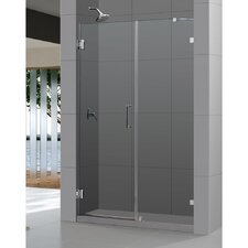"UniDoor Lux 72"" x 60"" Pivot Frameless Hinged Shower Door"