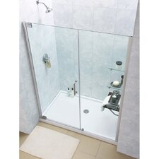 "Elegance 72"" x 48"" Pivot Frameless Shower Door"