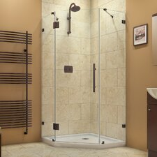 PrismLux 36-5/16 in. W x 36-5/16 in. D x 72 in. H Hinged Shower Enclosure with Hardware