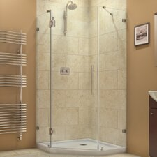"PrismLux 40 3/8"" by 40 3/8"" Frameless Hinged Shower Enclosure, 3/8"" Glass Shower"