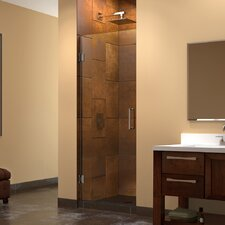 "UniDoor 72"" x 25"" Pivot Frameless Hinged Shower Door"