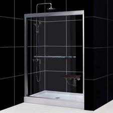 "Duet 72"" x 60"" Sliding Frameless Shower Door"