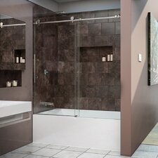 "Enigma-X 62"" x 59"" Sliding Frameless Tub Door"