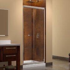 """Butterfly 72"""" x 31.5"""" Pivot Frameless Bi-Fold Shower Door"""