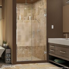 "UniDoor Plus 72"" x 46"" Pivot Hinged Shower Door with Hardware"