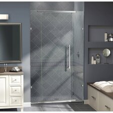 "Vitreo 76"" x 58"" Pivot Frameless Pivot Shower Door"