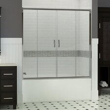 "Visions 58"" x 60"" Sliding Frameless Tub Door"
