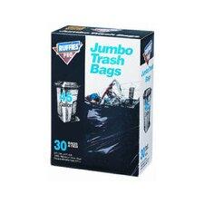 45 Gallon Jumbo Trash Bags in Black (30 Count)