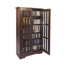 Glass Door Multimedia Storage Cabinet