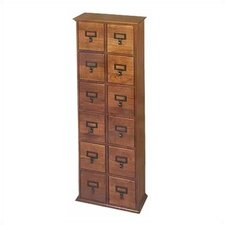 Library Style 12 Drawer Multimedia Cabinet