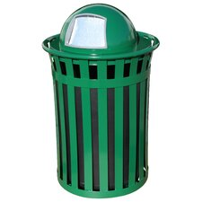 Oakley 50-Gal Trash Receptacle with Dome Top