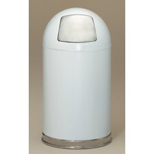Dome Top 12-Gal Metal Series Trash Can