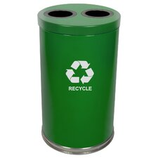 Metal Recycling 36-Gal Two Opening Multi Compartment Recycling Bin