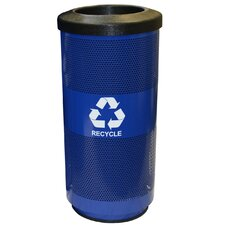 Metal Recycling 20-Gal Perforated Industrial Recycling Bin