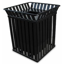 Oakley 36-Gal Trash Receptacle with Flat Top