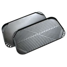 """Kitchen Extras 12"""" x 21"""" Reversible Griddle"""