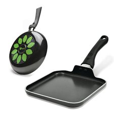 Artistry 2 Piece Non-Stick Fry Pan and Griddle Set