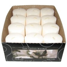 Candle-Lite Soft Cotton Blanket Votive Candle (Set of 12)