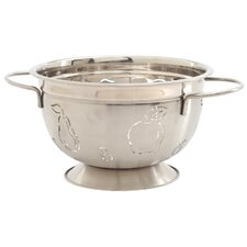 5 Quart Stainless Steel Apple and Pear Design Colander