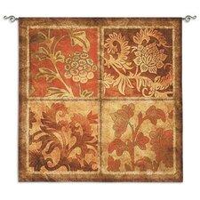 Botanical Scroll BW Tapestry