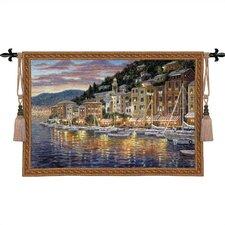 Cityscape, Landscape, Seascape Portofino Tapestry