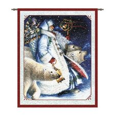 Santa and Polar Bears Tapestry