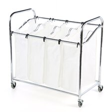 Canvas 4 Section Laundry Sorter
