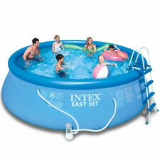 "Round 48"" Deep Easy Set Swimming Pool with Filter Pump"