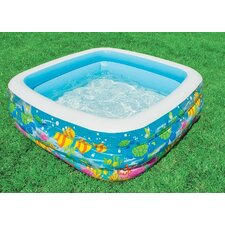 "Square 19.5"" Deep Clearview Aquarium Pool"