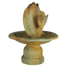 Fiber Stone Santi Fish Fountain