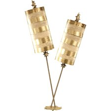 """Nettle Luxe 40"""" H Table Lamp with Drum Shade"""
