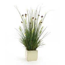 Mixed Faux Grasses in Planter