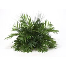 Silk Palm and Grass Desk Top Plant