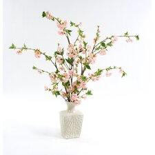 Silk Cherry Blossoms in Kira Vase