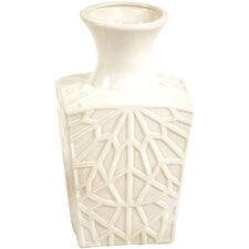 Decor Accessories Glazed Embossed Square Kira Vase