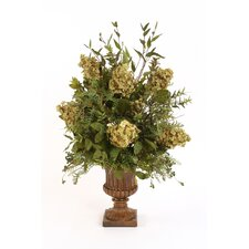 Silk Arrangement in Classic Urn