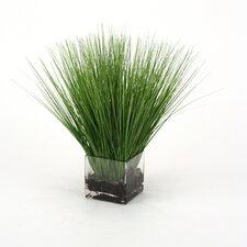 Waterlook Faux Grass in Rectangular Artificial Decorative Vase