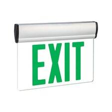 Single Face Green LED Edge Lit Exit Sign