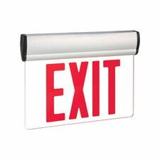 Single Face Red LED Edge Lit Exit Sign