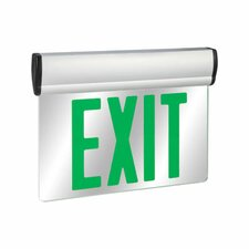 Double Face Green LED Edge Lit Exit Sign