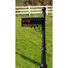 Lewiston Fluted Base and Ball Finial Mailbox Post
