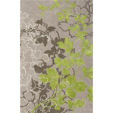 Dahlia Light Gray / Green Area Rug