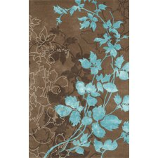 Dahlia Brown & Turquoise Area Rug