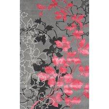 Dahlia Gray / Pink Area Rug