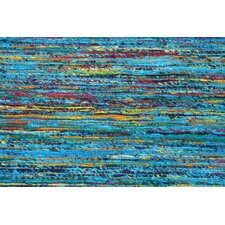Rainbow Aqua Blue Area Rug