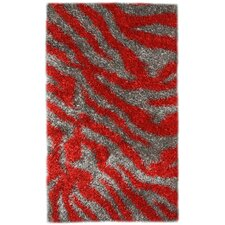 Pearl Gray / Red Area Rug