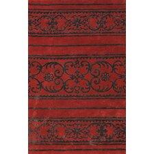 Amber Red Area Rug